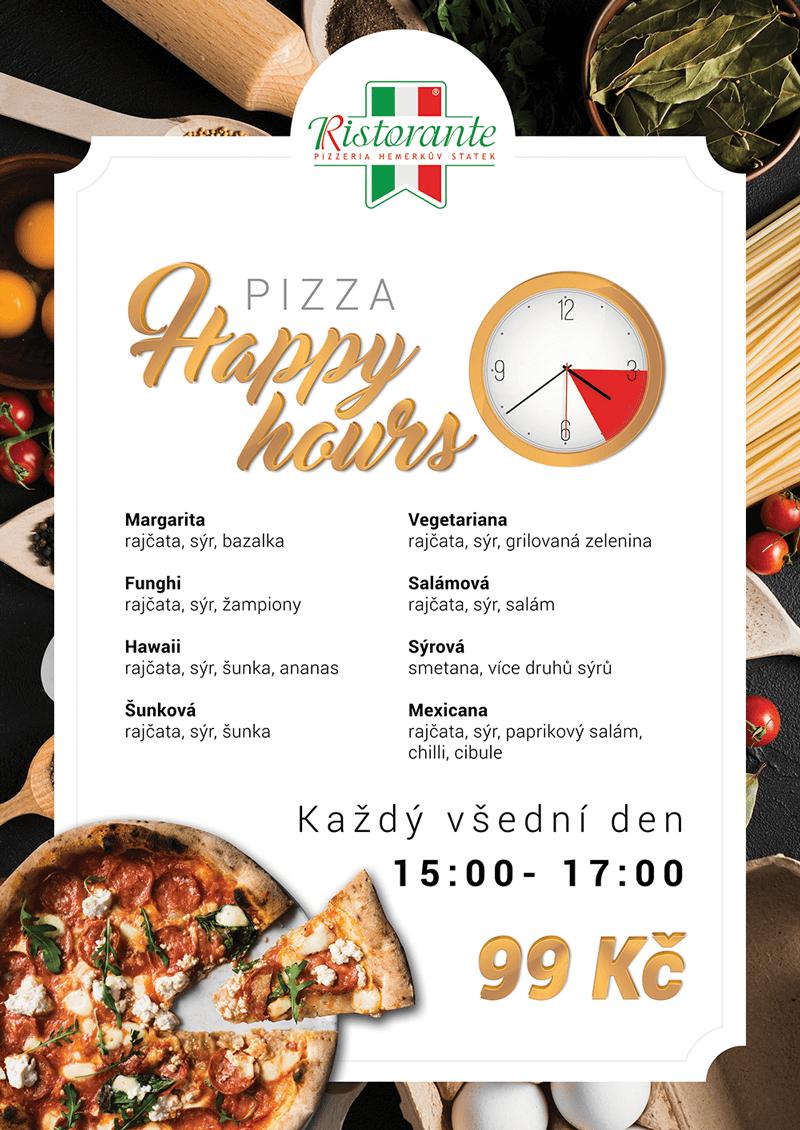 Pizza Happy Hours - Hemerkův Statek - Slaný